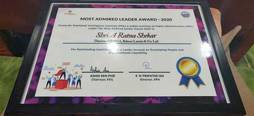 Most Admired Leader Award
