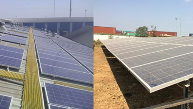 Solar Plants at factory