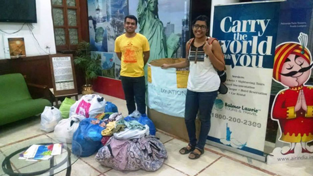 Clothes donated by employees of Balmer Lawrie