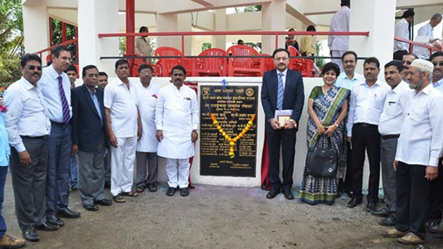 Inauguration of the water tank at Padge Village
