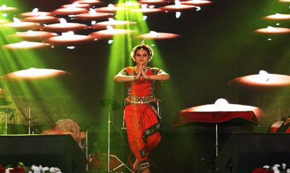 Participants perform during the BL's Got talent programme