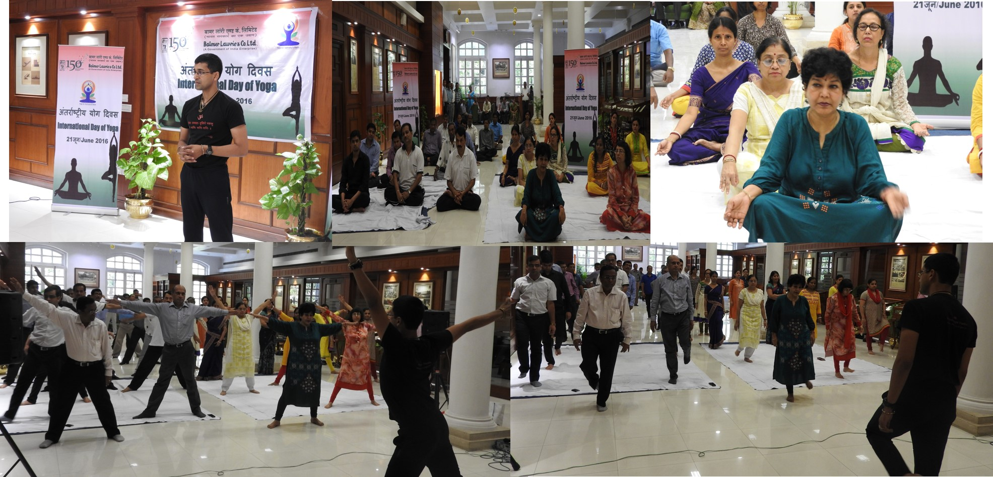 international day of yoga  besides yoga sessions numerous programmes like essay quiz and poster competitions around the theme of yoga were organized for the employees