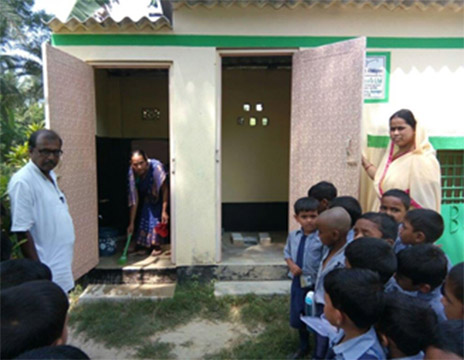 Toilet maintenance in a government school in West Bengal